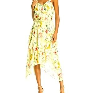 Parker Vanna Floral-Print Silk Midi Dress